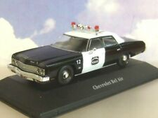 ATLAS 1/43 1973 CHEVROLET BEL AIR POLICE CAR CITY OF NORWICH PD CONNECTICUT USA