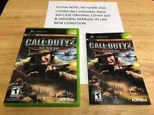 Call of Duty 2 Big Red One Original Xbox Original Case Cover Art Manual NO GAME