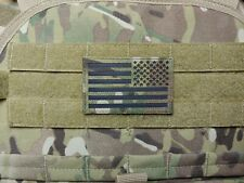 Multicam and Black Reversed US Flag IR Reflective Military Patch Tactical Hook