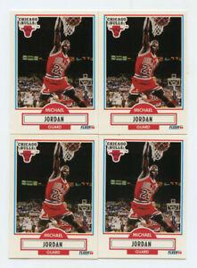 Lot of (4) Michael Jordan 1990-91 Fleer #26 AG691