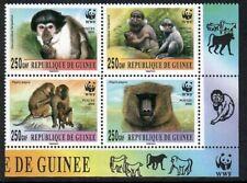 Guinea, 2000, Monkeys, MNH