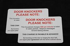 Lot of 2 4x6 No Soliciting Funny Humorous Door Window Card Stock UV Coated Signs