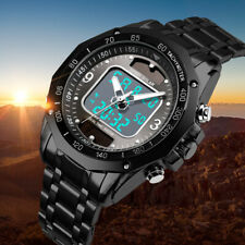 Solar Powered  Mens Watches Waterproof Analog&Digital Sport Watch Christmas Gift