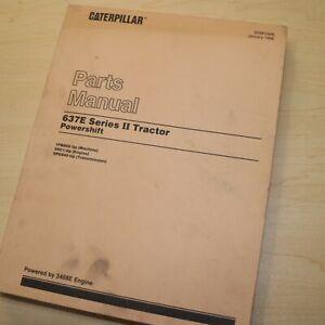 CAT Caterpillar 637E Series 2 II Scraper Parts Manual Book catalog TRACTOR pan