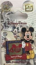 Disney pin WDW 40 Years of Magic Anniversary Logo Letter D Jeweled Mickey Mouse