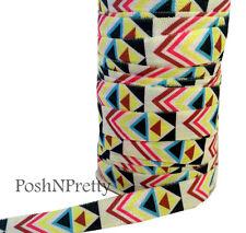 Tribal 3 Yards 5/8 Print Fold Over Elastic FOE - Style E