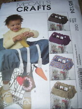 McCALL'S #M5124 - CHILDS GROCERY CART LINER & ATTACHED PLAY TOYS PATTERN  FF