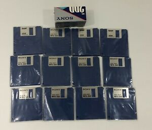 New Sony MFD 2DD 3.5 Inch Micro Floppydisk Double Sided 1MB Lot of 12