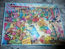 Vintage - Castile Wooden Jigsaw Puzzle - Country Folk - 70 Pieces Complete