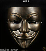New V For Vendetta Resin mask Occupy Wall Street Guy Fawkes Cosplay Prop
