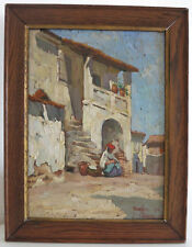 early 20th Paul Geny 1895 - 1975 France Signed listed  Oil on Wood-Panel antique