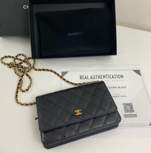 Chanel Classic Caviar WOC Wallet On Chain authentic
