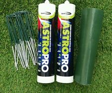 New Artificial Grass Joining Fixing Kit Glue x2 + Tape 6m + Pins x10 Astro Pro