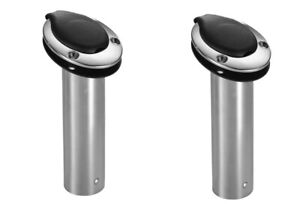 Pair of Two (2) Attwood Standard Series Rod Holder 15 Degree Stainless 66363-7