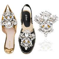 Fashion Rhinestone Shoe Clip Boot Applique Women Wedding Bridal Shoe Charm