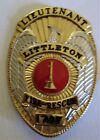 Littleton Colorado Fire Rescue Lieutenant Badge