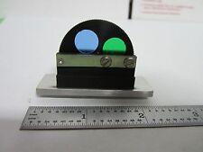 MICROSCOPE PART EPISTAR REICHERT LEICA FILTER WHEEL OPTICS AS IS BIN#H2-D-04