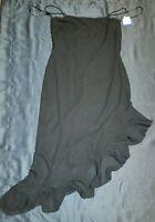 NWT Arianna by Rachel Kaye Asymmetrical Black Formal Evening Dress Gown Sz 12