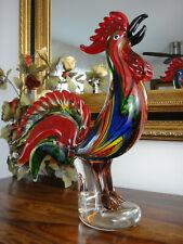 Skulptur Hahn Kristall Glas Kunst Figur Gockel Vogel Statue Luxus Stil Murano