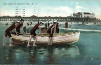 Postcard Life Boat at Atlantic City Posted 1907