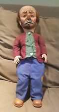 ANTIQUE -EMMETT KELLY-  HOBO CLOWN / Weary Willi 1950S  COLLECTIBLE Plastic Doll
