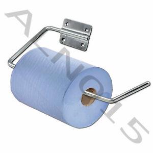 BLUE ROLL TISSUE PAPER TOWEL HOLDER FEED PAPER DISPENSER CHROME STAINLESS STEEL