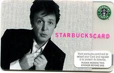2007 NEW - UNUSED Paul McCartney Limited Edition Starbucks Card