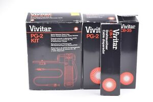 EXC++ VIVITAR PG-2 KIT INCLUDES PISTOL GRIP, BRACKET, AND CABLE RELEASE, BOXED
