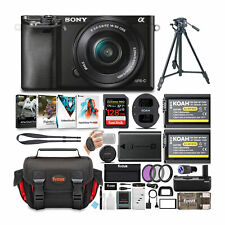Sony Alpha a6000 24.3MP Mirrorless Digital Camera with 16-50mm Lens Bundle