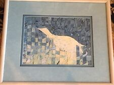 Orig Heron White Egret Shore bird Painting Art Framed Joy Dibble US Beach Sea