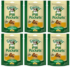 GREENIES PILL POCKETS FOR DOGS 7.9OZ CAPSULE CHICKEN FLAVORED 6 PACK