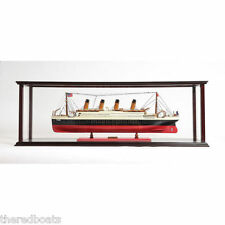 """Display Case for Ocean Liner Cruise Ship 36"""" - Wooden Display Case"""