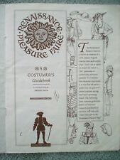 RENAISSANCE PLEASURE FAIRE Costumers Guidebook Re-creation of 16th Century COPY