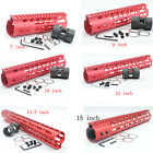7 9 10 12 13.5 15'' Length Ultralight NSR Keymod Free Float Handguard Rail Red