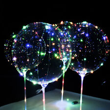 "5Pcs 20""  Luminous LED Fairy String Light Transparent Balloons Party Decor AU"