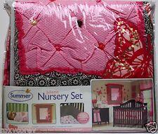 Summer Infant Juliette Nursery Set Pink & Brown 5 Piece Crib Bedding Set NIP
