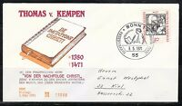 Germany 1971 FDC cover Mi 674 Sc 1066 Thomas Monk,Augustinian monk,used