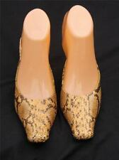Latitude Femme Snakeskin Python Square Toe Shoes Size 36 USA 6 Made in Italy