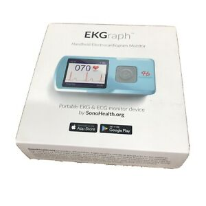 SonoHealth Portable EKG Heart Rate Monitor | Wireless Handheld Home ECG Cardi...