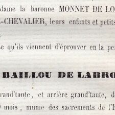 Louise Perinne Baillou De Labrosse Tabart Loudun 1868