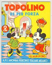 albo d'oro Anno III n. 26 TOPOLINO RE PER FORZA ristampa anastatica