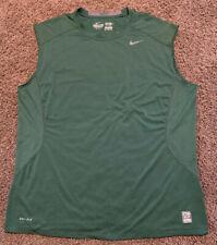 Mens Nike Pro Combat Fitted Sleeveless Shirt Green Adult Size Xxl 2Xl