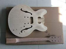 Top grade Unfinished electric guitar body with neck , Excellent quality 050515