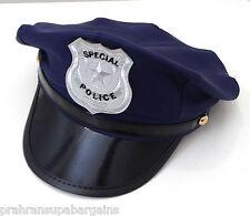 Special Police Cap Party Hat Fancy Dress Copper Cop Adult Costume Black