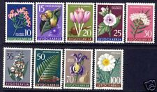 YUGOSLAVIA FLOWERS SCOTT 469-477 MH -mint hinched s3307