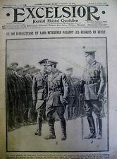 WW1 REVUE DE RECRUES ROI ANGLETERRE ET LORD KITCHENER EXCELSIOR 3 OCTOBRE 1914