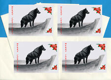 SCHIPPERKE PACK OF 4 CARDS DOG PRINT GREETING CHRISTMAS CARDS