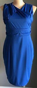 OXIULI Blue Sleeveless Stretch Sheath Cocktail Dress Plus Sizes 16 & 20