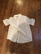 Steven Alan  Ecru crinkle Carson Shirt S $150
