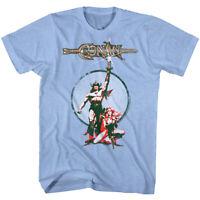 Conan the Barbarian Vintage Movie Poster Men's T-Shirt Schwarzenegger Movie Tee